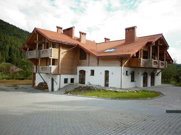 Детский лагерь Карпатське Левеня фасад