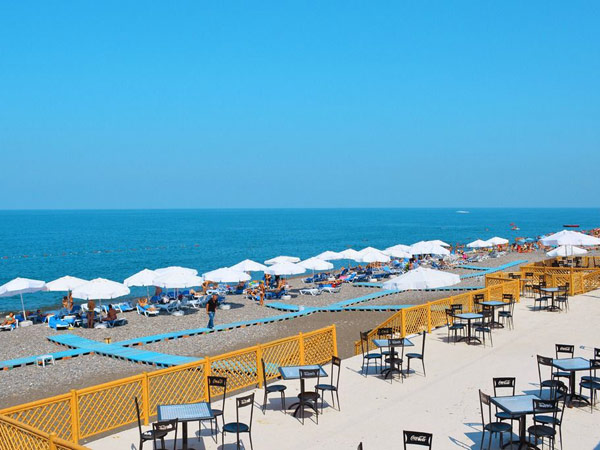 Georgia Palace Hotel Kobuleti пляж