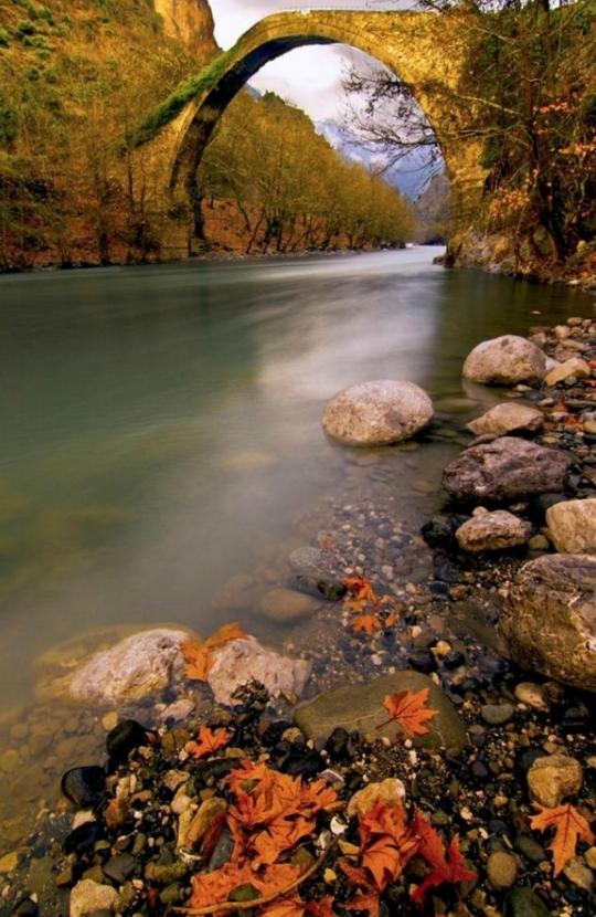 новость пейзажи Старый Мост Konitsa , Эпир, Греция