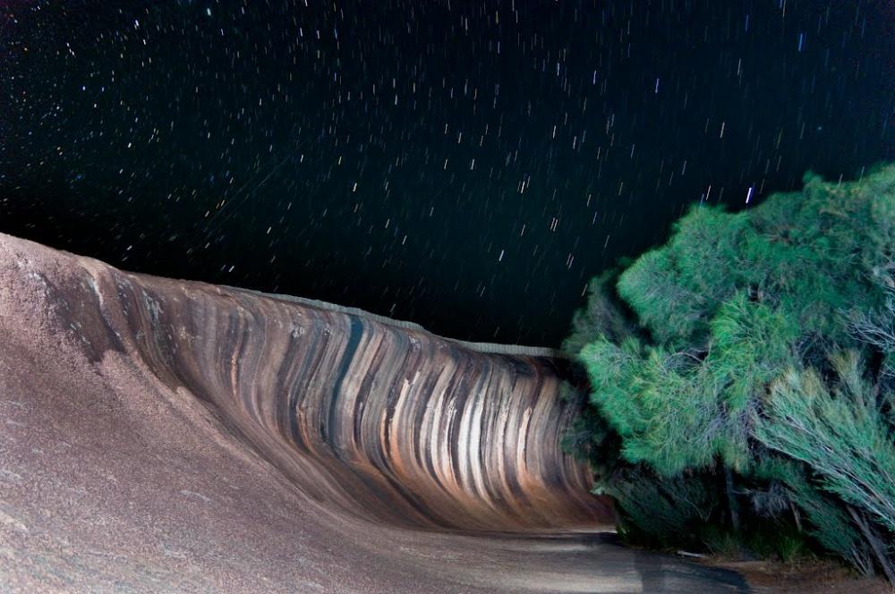 Скала «Волна» (Wave Rock) в городе Перт.