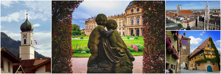 Сказочные города и замки Баварии Мюнхен