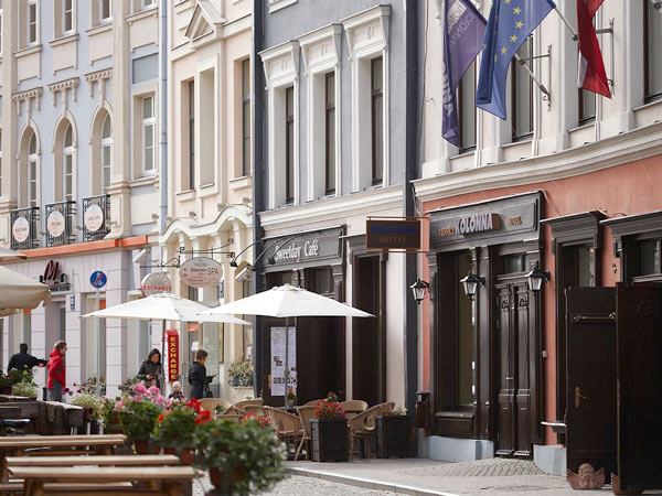 Kolonna Hotel Riga 3*. Фасад